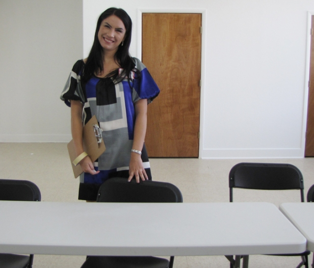 Cynthia coordinates the religious education classes in the updated classrooms