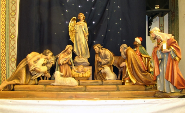 Nativity scene at Holy Rosary Church