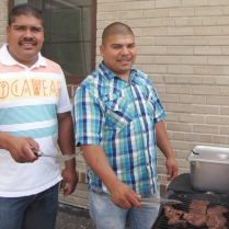Israel and Sarando are masters of the grill