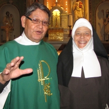 Deacon Pablo Salas and Blessed Mother Maria Theresia Bonzel