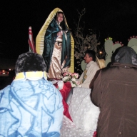 A cold night for the procession