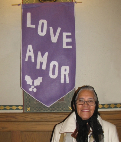 Romelia created our beautiful Advent banners