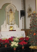 A parishioner generously donated the Christmas tree and ornaments