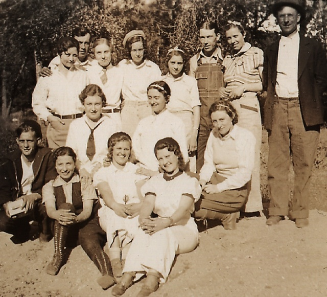 Holy Rosary choirs always had a wonderful time - the choir enjoyed a picnic about 1934