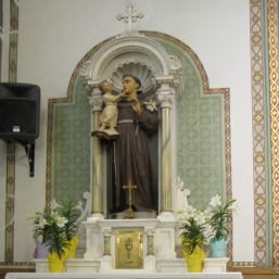 St Anthony altar on Easter