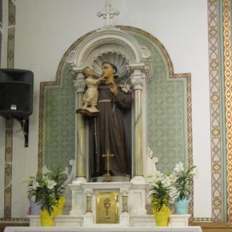 St Anthony altar on Easter