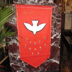A hand-crafted banner for Corpus Christi