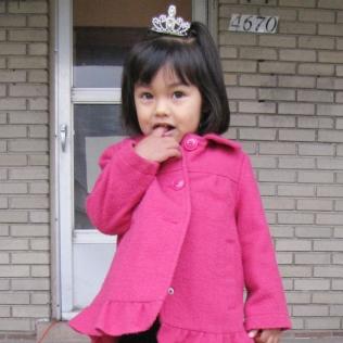 a princess at Holy Rosary