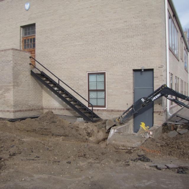 handicap ramp and door