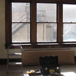 windows were also repaired and cleaned