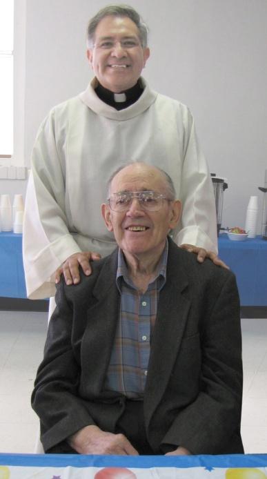 Monsignor shows his appreciation for Lou