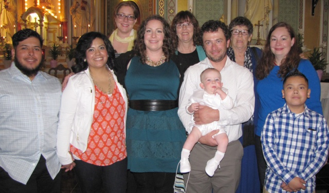 Peter Howard Chiaramonte is baptized at Holy Rosary