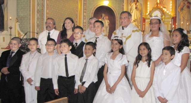 Congratulations to those who made their First Communion on Sunday, May 3