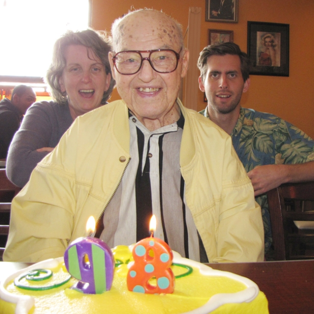 Long time parishioner Tony Tezak celebrated his 98th birthday with friends from Holy Rosary