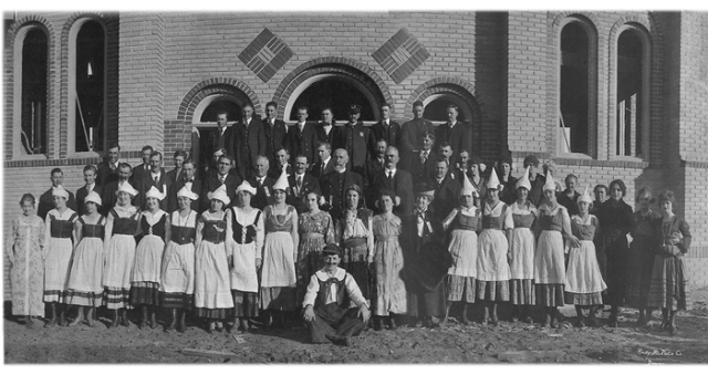 the first Holy Rosary parish bazaar was held in 1919 - the church windows aren't yet complete