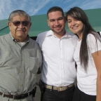 Deacon Harold, Luis, and Elisa help out
