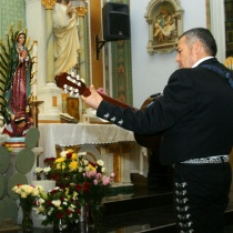 Mariachis serenade the virgin