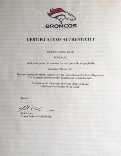 Bronco letter